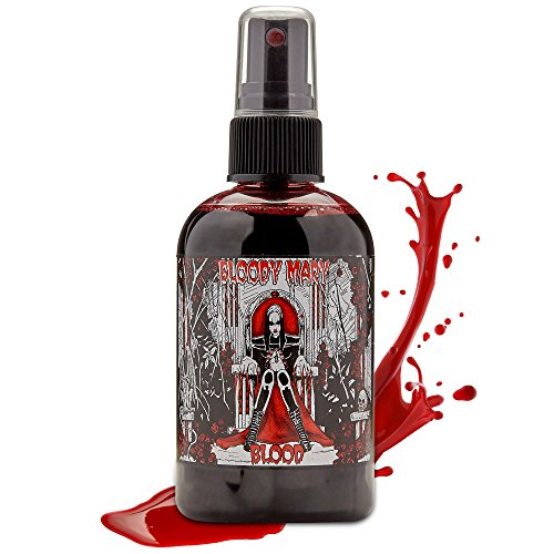 Bloody Mary Fake Blood Makeup Spray – for Theater and Costume or Halloween Zombie, Vampire and Monster Dress Up (Large – 4 oz)