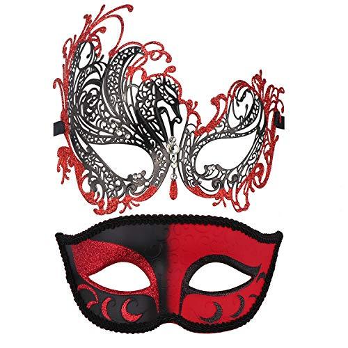 Couple's Masquerade Masks Mardi Gras Mask Venetian Party Mask Halloween Costumes Accessory
