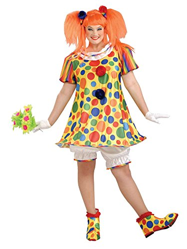 Forum Giggles The Clown Costume, Multicolor , Plus Size