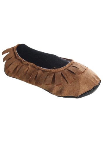 Fun Costumes Kids Realistic Native American Moccasins Shoes – M Brown