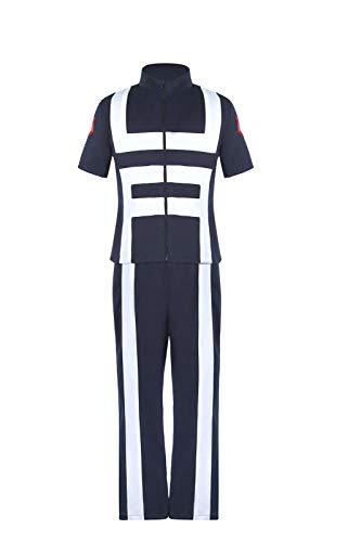 ROLECOS My Hero Academia Gym Uniform BNHA MHA UA Training Uniform Deku Cosplay PE Outfit S Navy Blue