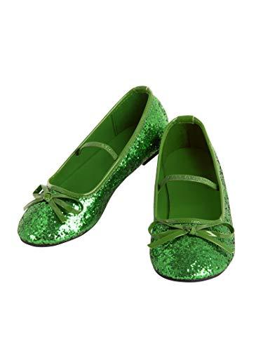 Rubie's Girl's Costume Ballet Shoes, Green, 13/1