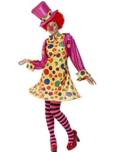 Smiffys Women Clown Lady Adult Sized Costume, Multi-colour, S – US Size 6-8
