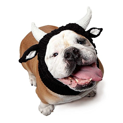 Zoo Snoods Bull Dog Costume – Neck and Ear Warmer Hood for Pets (Large)
