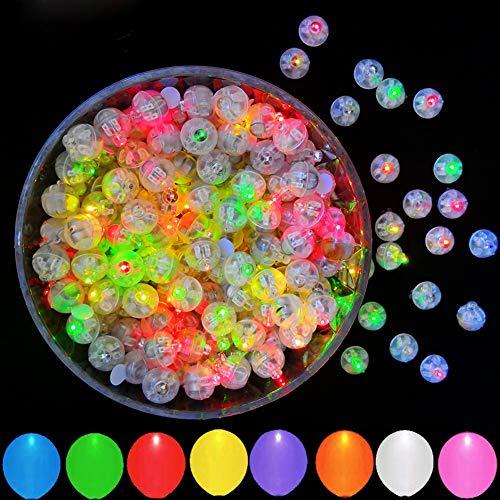 100pcs Multicolor LED Balloon Lights, JJGoo Round Mini Tiny Flash Led Light for Balloon, Birthday Party Wedding Halloween Christmas Decoration…