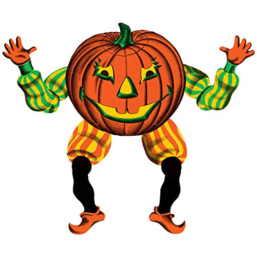 Pumpkin Goblin Vintage Halloween Jointed Cutout – 1 Pc.