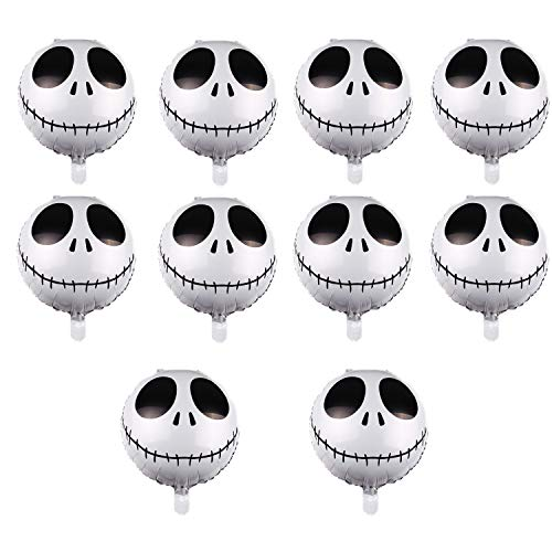 10PCS Halloween Skeleton Demon Aluminum Foil Balloon, Suitable for Halloween, Cosplay Theme Party Decoration, Wedding Birthday Party Decoration. (18 Inches)